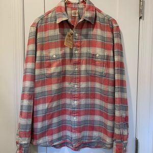 Faherty Plaid Flannel Work Shirt